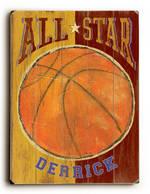 ALL STAR BASKETBALL VINTAGE SIGN