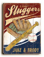 LITTLE SLUGGER VINTAGE SIGN FOR TWINS
