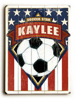 SOCCER FLAG VINTAGE SIGN