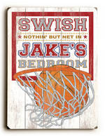 BASKETBALL SWISH VINTAGE SIGN