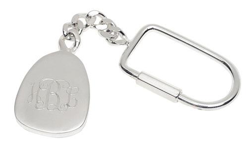 Silver Plated Teardrop Keychain