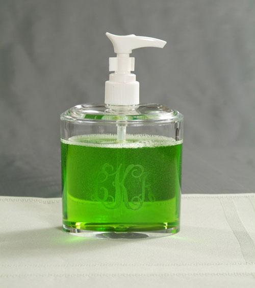 ACRYLIC OVAL SOAP/ LOTION DISPENSER