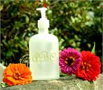 LIQUID SOAP FROSTED APOTHOCARY BOTTLE w MONOGRAM