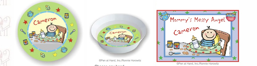 BABY BOY PLATE AND BOWL