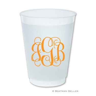 PERSONALIZED SCRIPT MONOGRAM FROSTED CUP