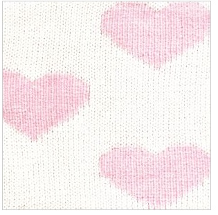 COTTON CLASSIC HEART BLANKET