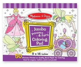 MELISSA AND DOUG-JUMBO PRINCESS AND FAIRY COLORING BOOK