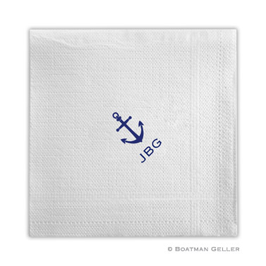PERSONALIZED ANCHOR NAPKINS