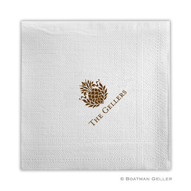 PERSONALIZED PINEAPPLE RIBBON NAPKINS