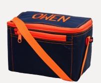 OH MINT NAVY/ORANGE LUNCH BAG