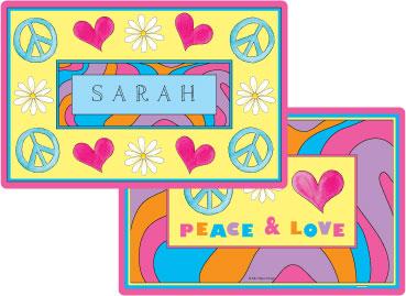 PEACE LOVE EAT PLACEMAT