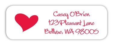 Heart Return Adress Label