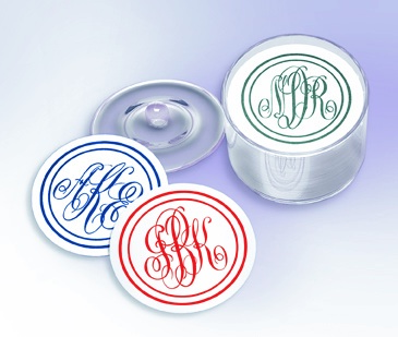 MONOGRAMMED PARTY COASTERS