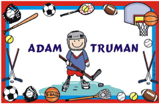 PLACEMAT SPORTS BOARDER