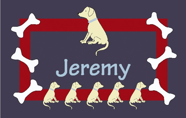 COOPER YELLOW LAB PLACEMAT