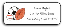 SPORTS FAN ADDRESS LABEL