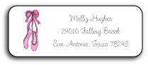 BALLERINA ADDRESS LABEL