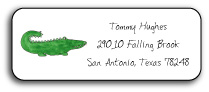 GREEN GATOR ADDRESS LABEL