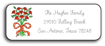 BOUQUET OF ROSES ADDRESS LABEL