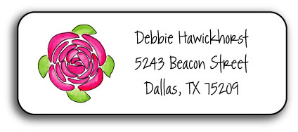 PINK PEONIES ADDRESS LABEL