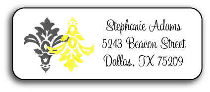 DAMASK ADDRESS LABEL