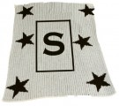BUTTERSCOTCH BLANKEE- INITIAL WITH STARS STROLLER & CRIB SIZE