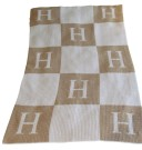 BUTTERSCOTCH BLANKEE-INITIAL WITH BLOCKS STROLLER & CRIB SIZE