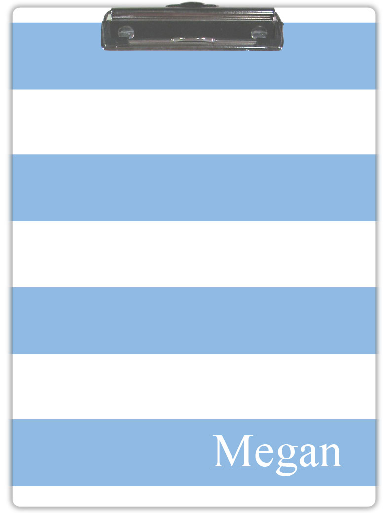 LIGHT BLUE & WHITE CLIPBOARD