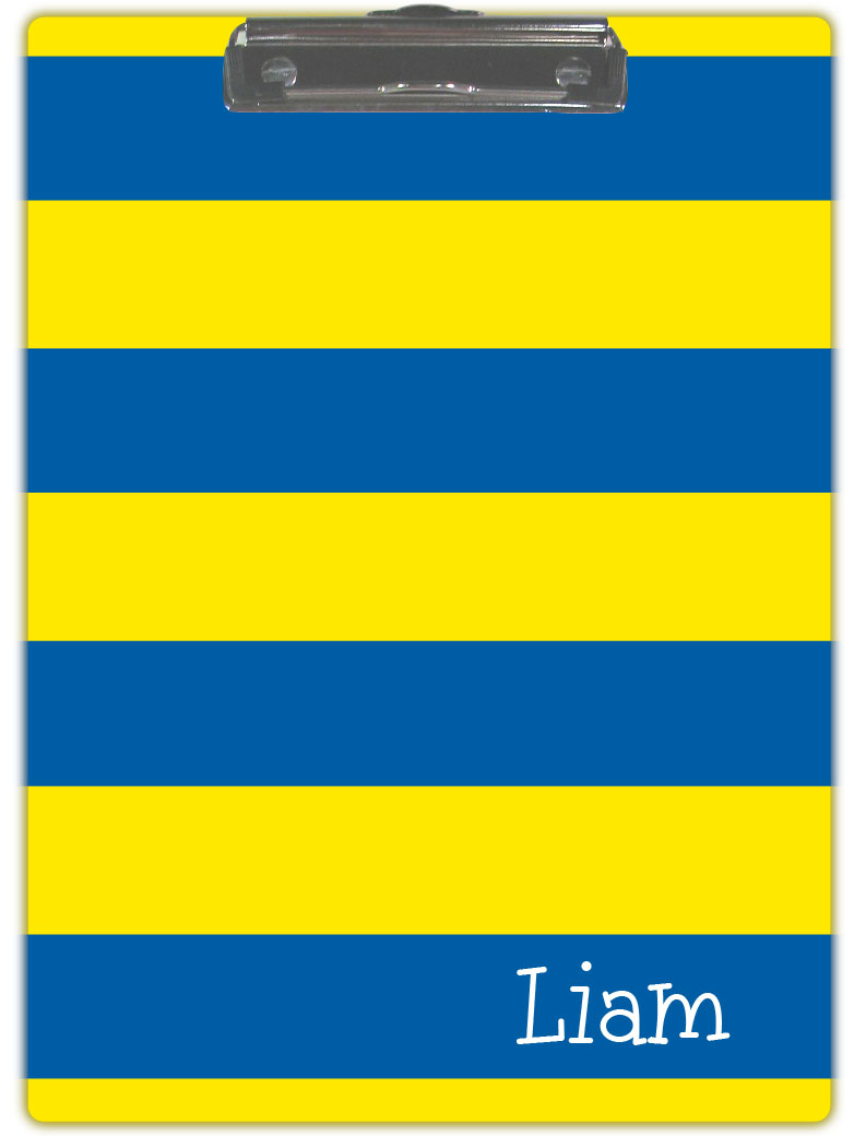 BLUE & YELLOW STRIPE CLIPBOARD