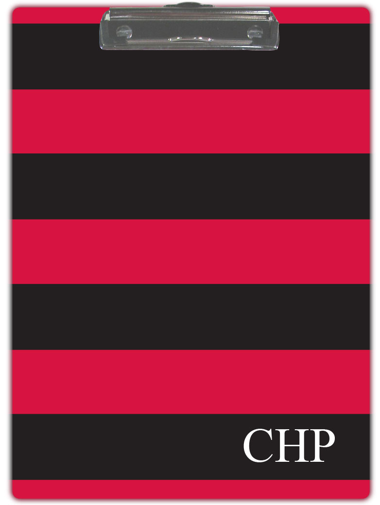 BLACK & RED STRIPE CLIPBOARD