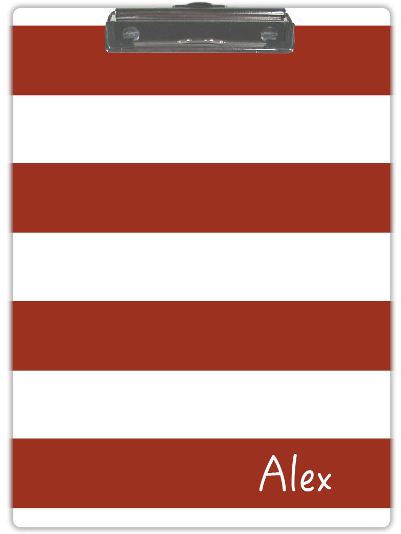 RED & WHITE STRIPE CLIPBOARD