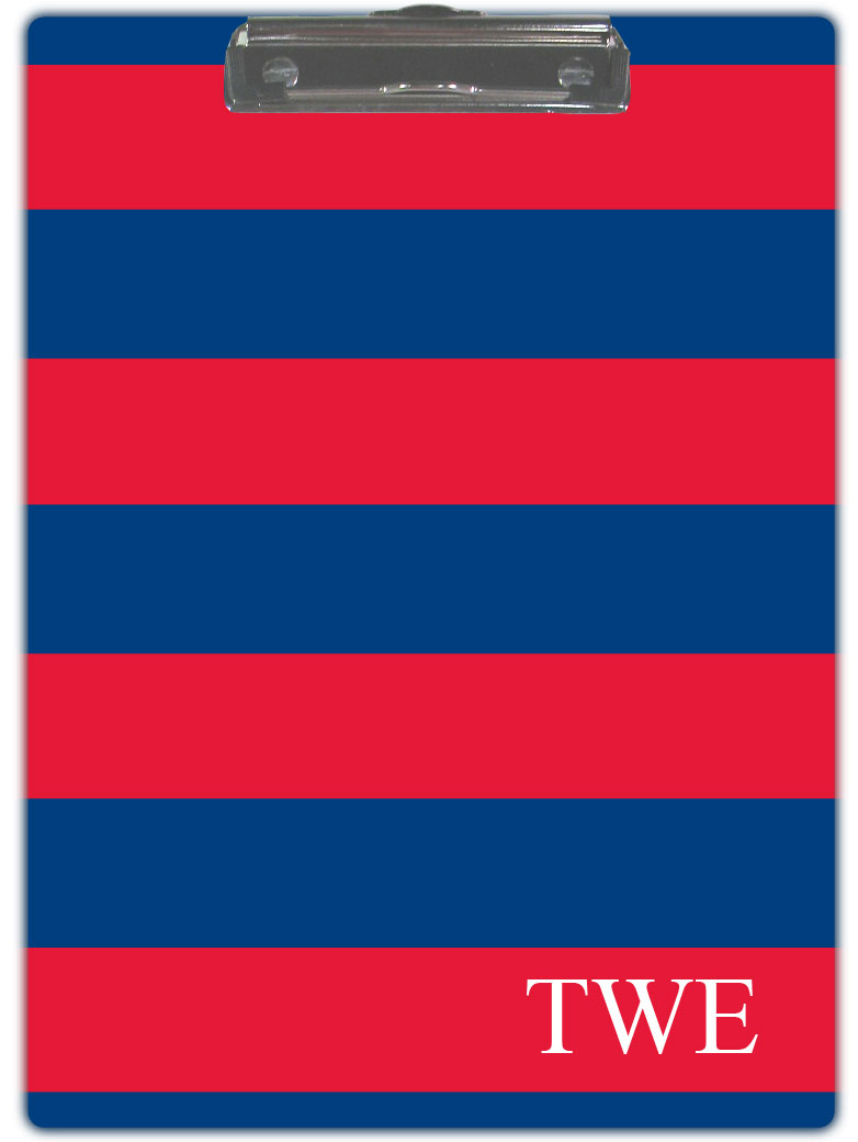 RED & BLUE STRIPE CLIPBOARD