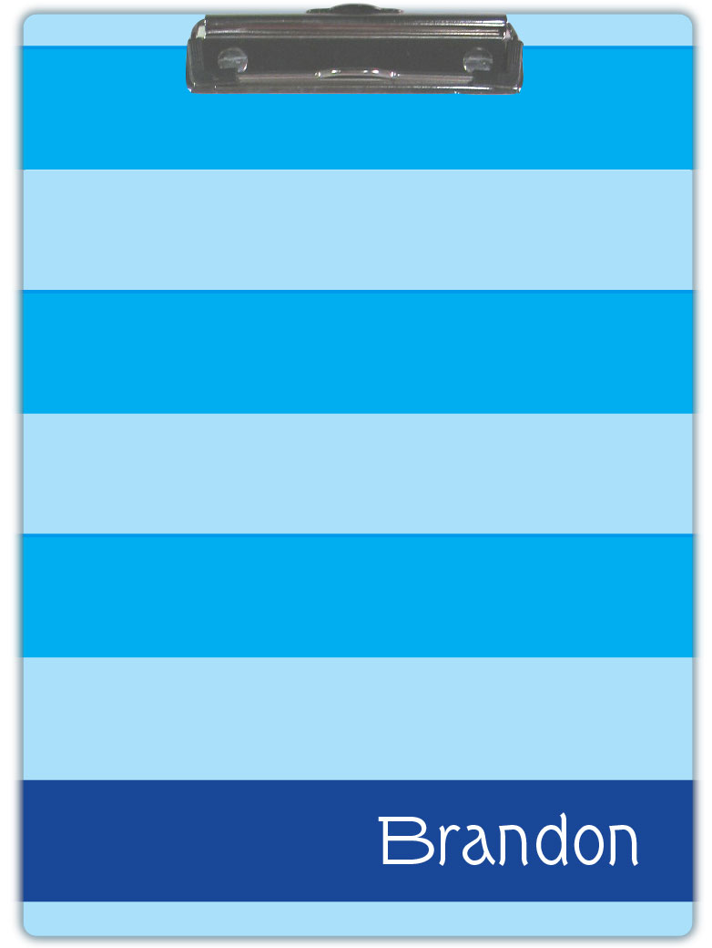 MULTI BLUE STRIPE CLIPBOARD