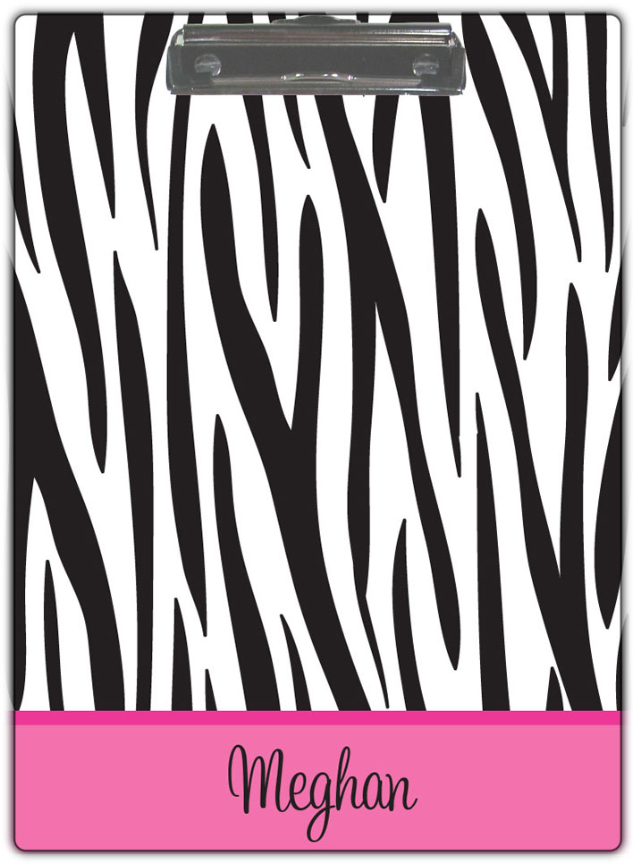BLACK ZEBRA CLIPBOARD