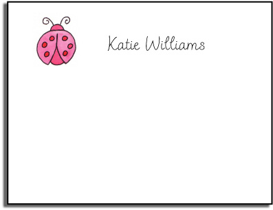LADY BUG KIDS FLAT NOTES
