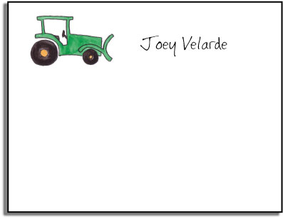 TRACTOR KIDS FLAT NOTES