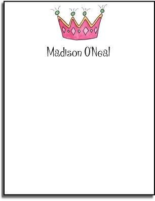 PRINCESS FLAT NOTE CARDS