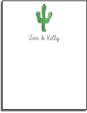 CACTUS FLAT NOTE CARDS
