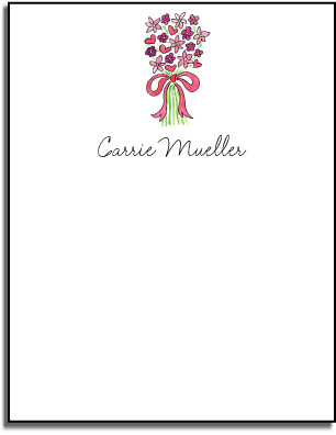 PINK BOUQUET FLAT NOTE CARDS
