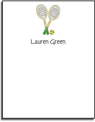 TENNIS FLAT NOTE CARDS