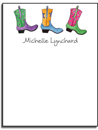 COWGIRL BOOTS FLAT NOTE CARDS