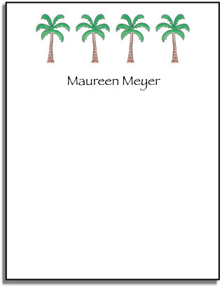 PALM TREES FLAT NOTE CARDS