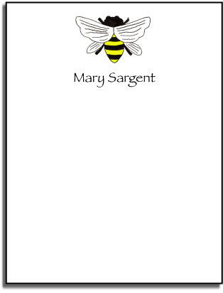 QUEEN BEE FLAT NOTE CARDS