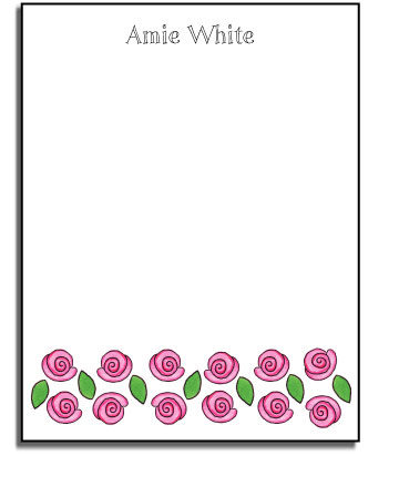 ROSE GARDEN FLAT NOTE CARDS