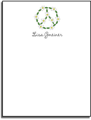 DAISY CHAIN FLAT NOTE CARDS