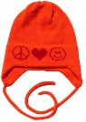 PEACE, HEART, SMILE  HAT w EARFLAPS