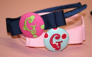 Button initial headband
