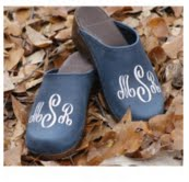 3 ALPHA MONOGRAMMED WOOL CLOGS
