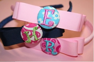 Button Inital Headband