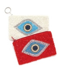 BEDADED EYE KEYCHAIN